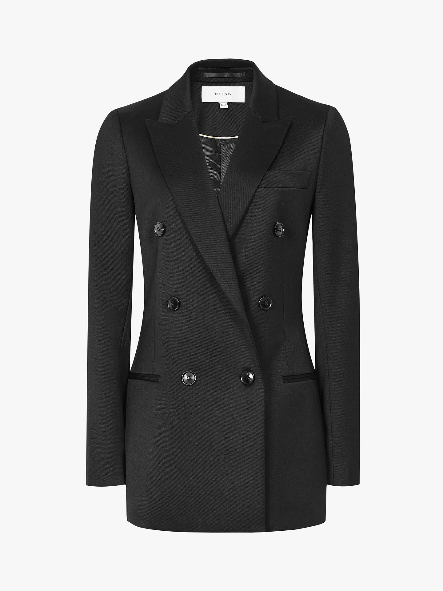 Buy Reiss Aleida Double Breasted Blazer, Black, 6 Online at johnlewis.com