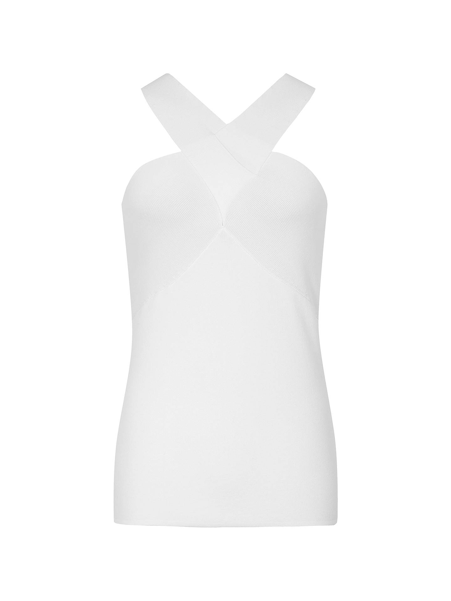 BuyReiss Milano Halterneck Top, White, XS Online at johnlewis.com