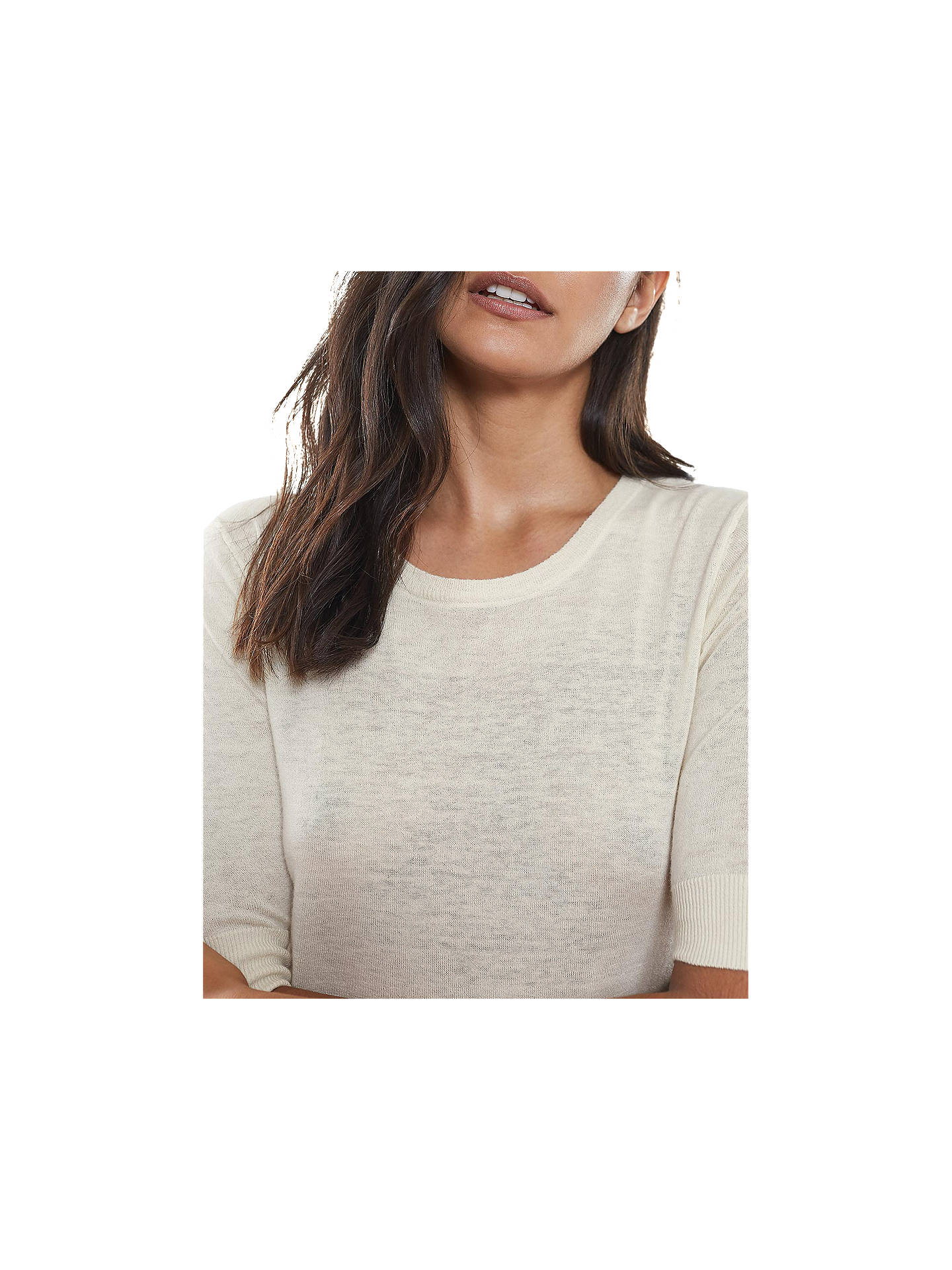 Buy Reiss Amelia Wool & Cashmere Blend Jumper, Ivory, XS Online at johnlewis.com