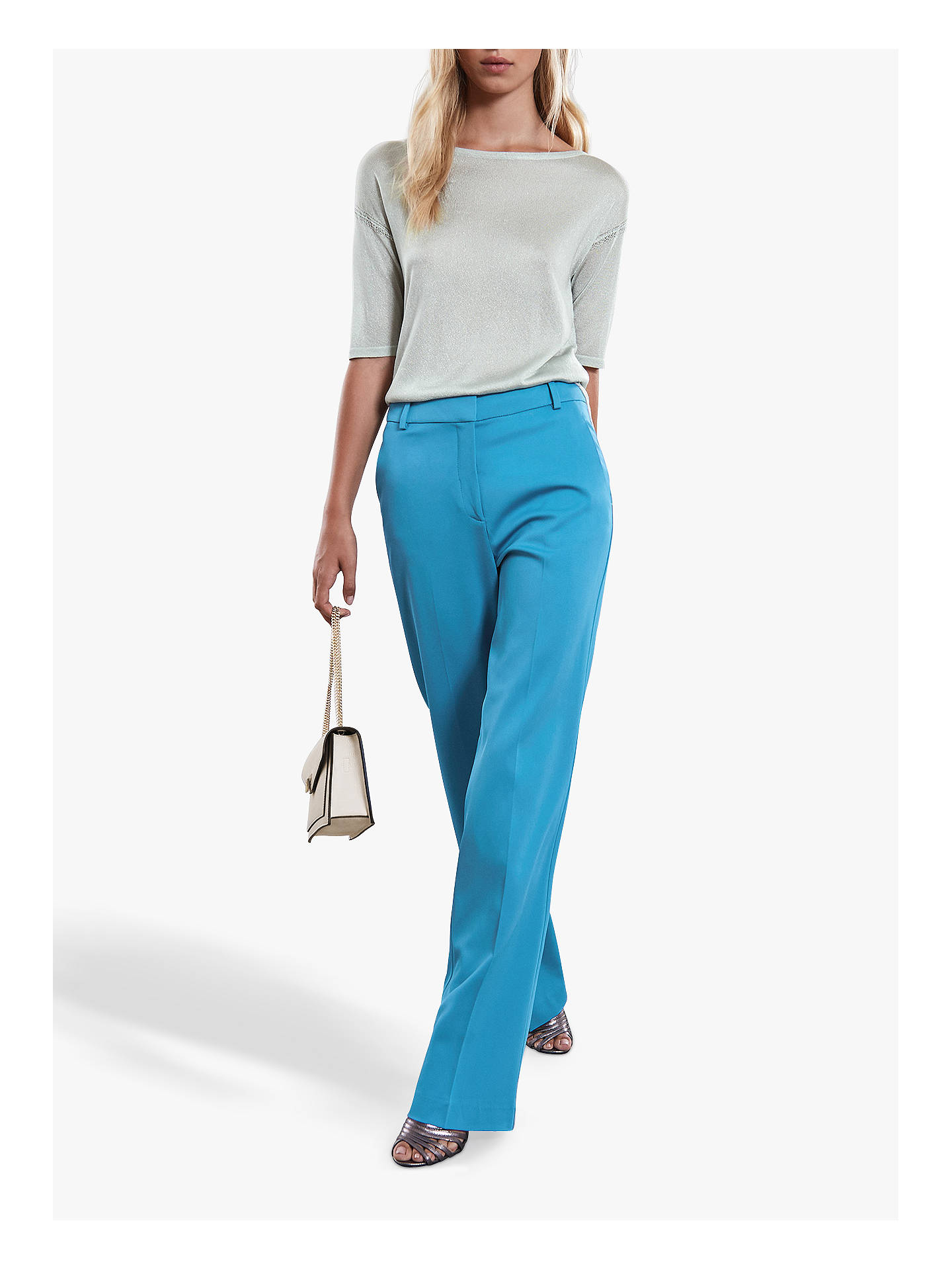 BuyReiss Lilea Metallic Top, Mint, XS Online at johnlewis.com