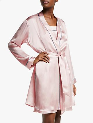 John Lewis   Partners Silk Piped Dressing Gown f8d480bf35ee