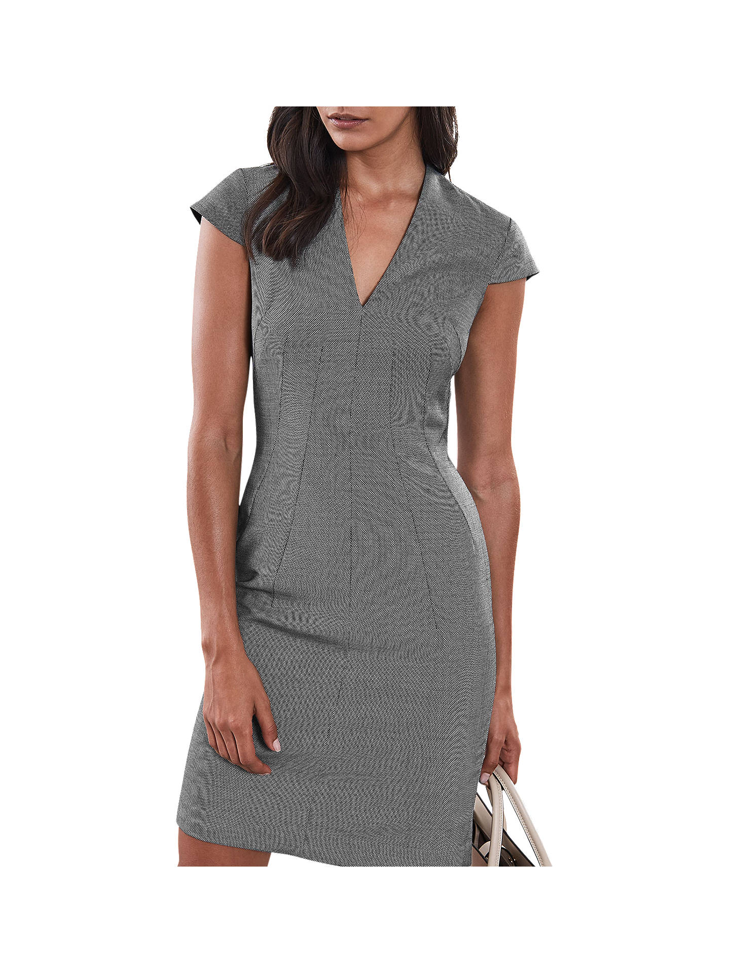Buy Reiss Alber Tailored Dress, Mid Grey, 12 Online at johnlewis.com