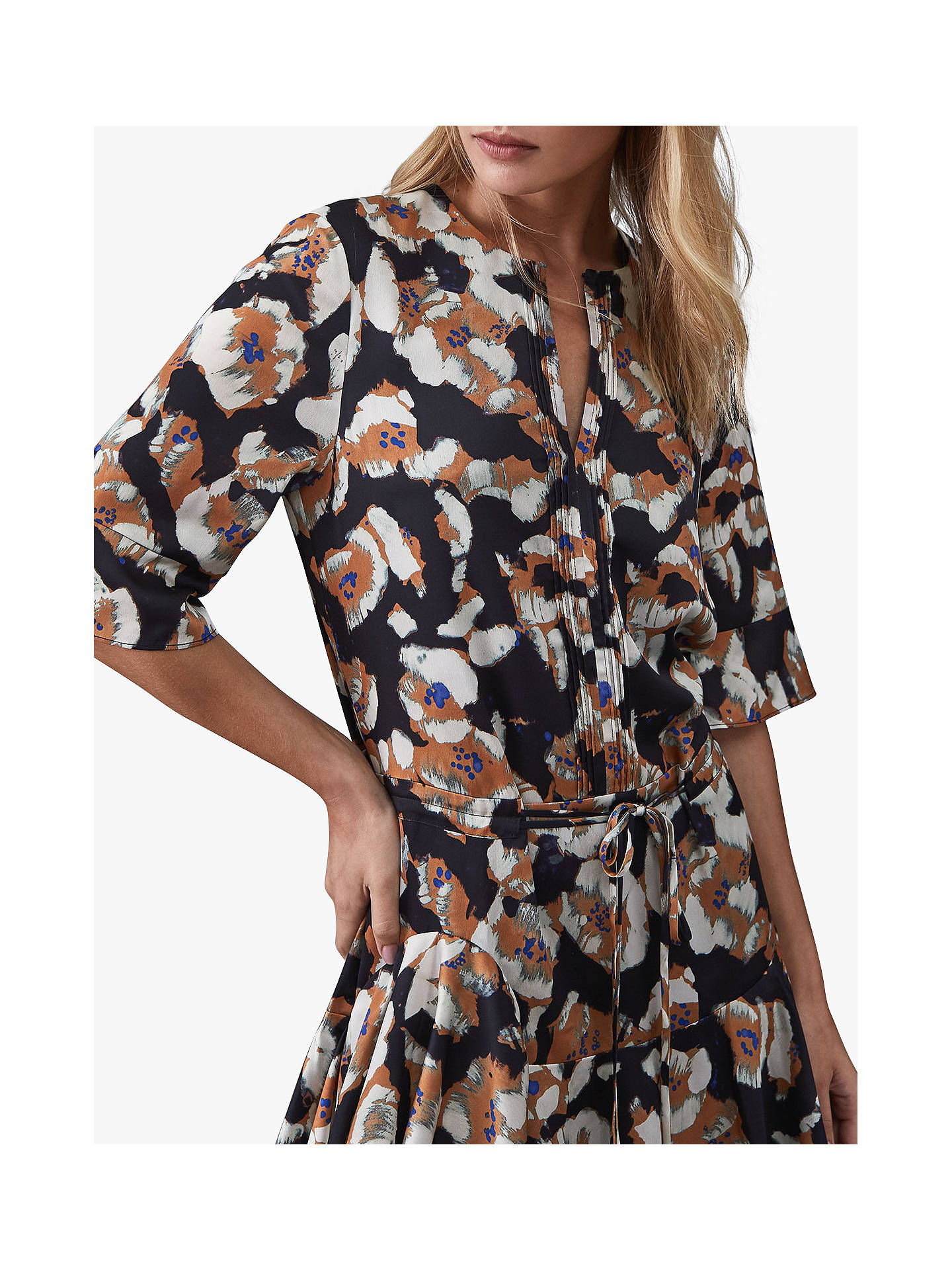 BuyReiss Kianni Floral Day Dress, Multi, 14 Online at johnlewis.com