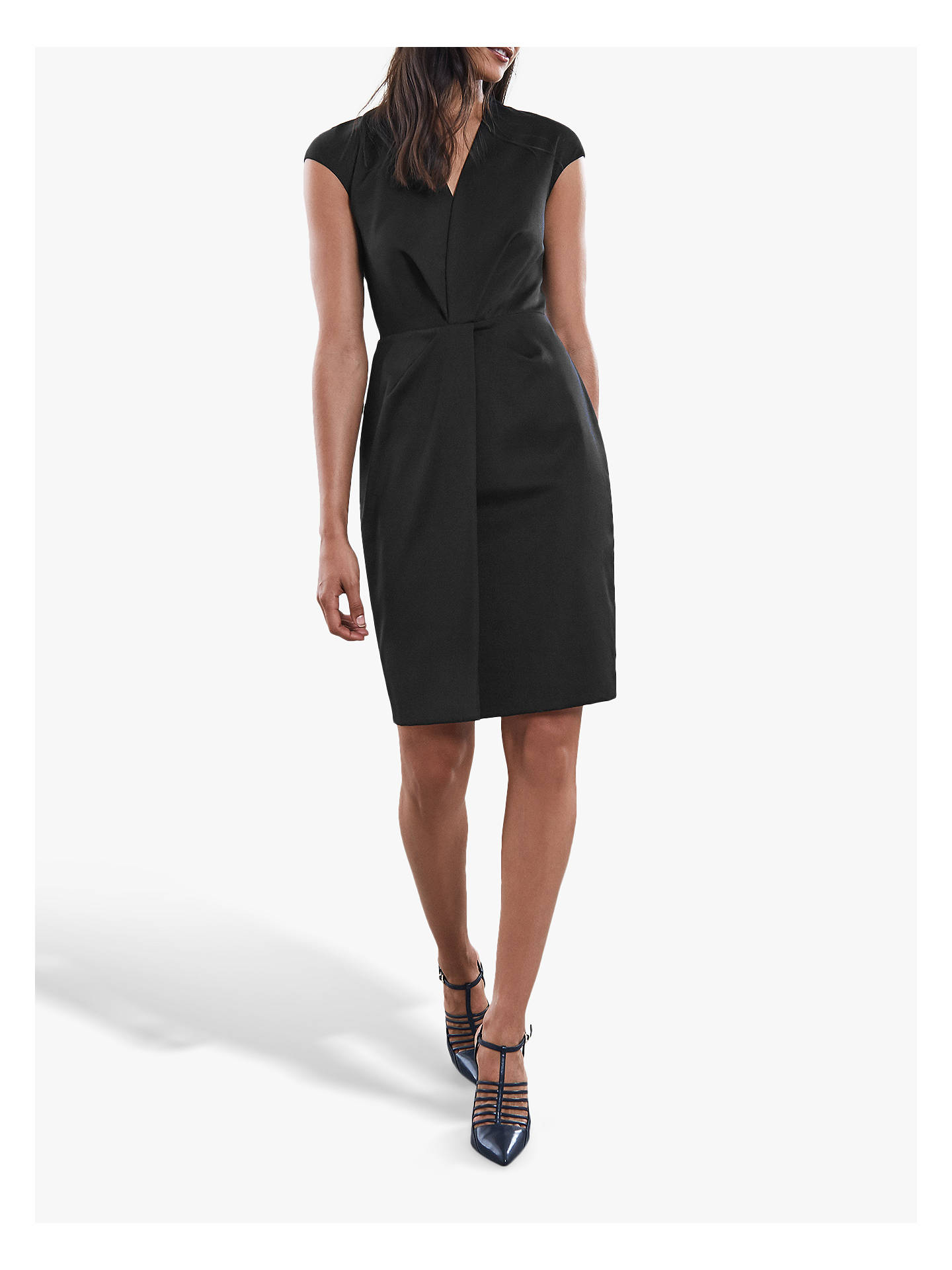 Buy Reiss Harper Tailored Dress, Black, 6 Online at johnlewis.com
