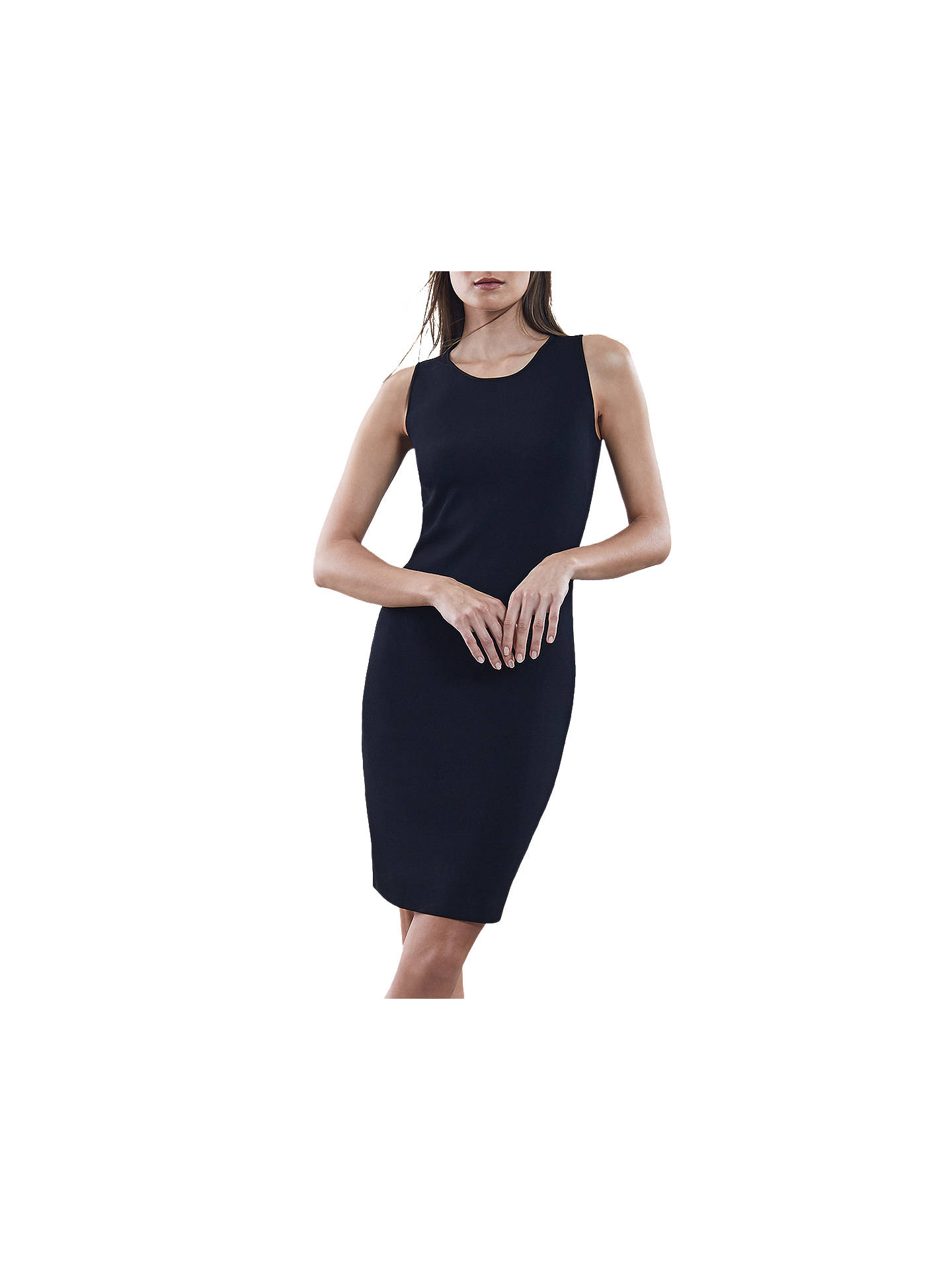 Buy Reiss Lara Sleeveless Dress, Black, XS Online at johnlewis.com