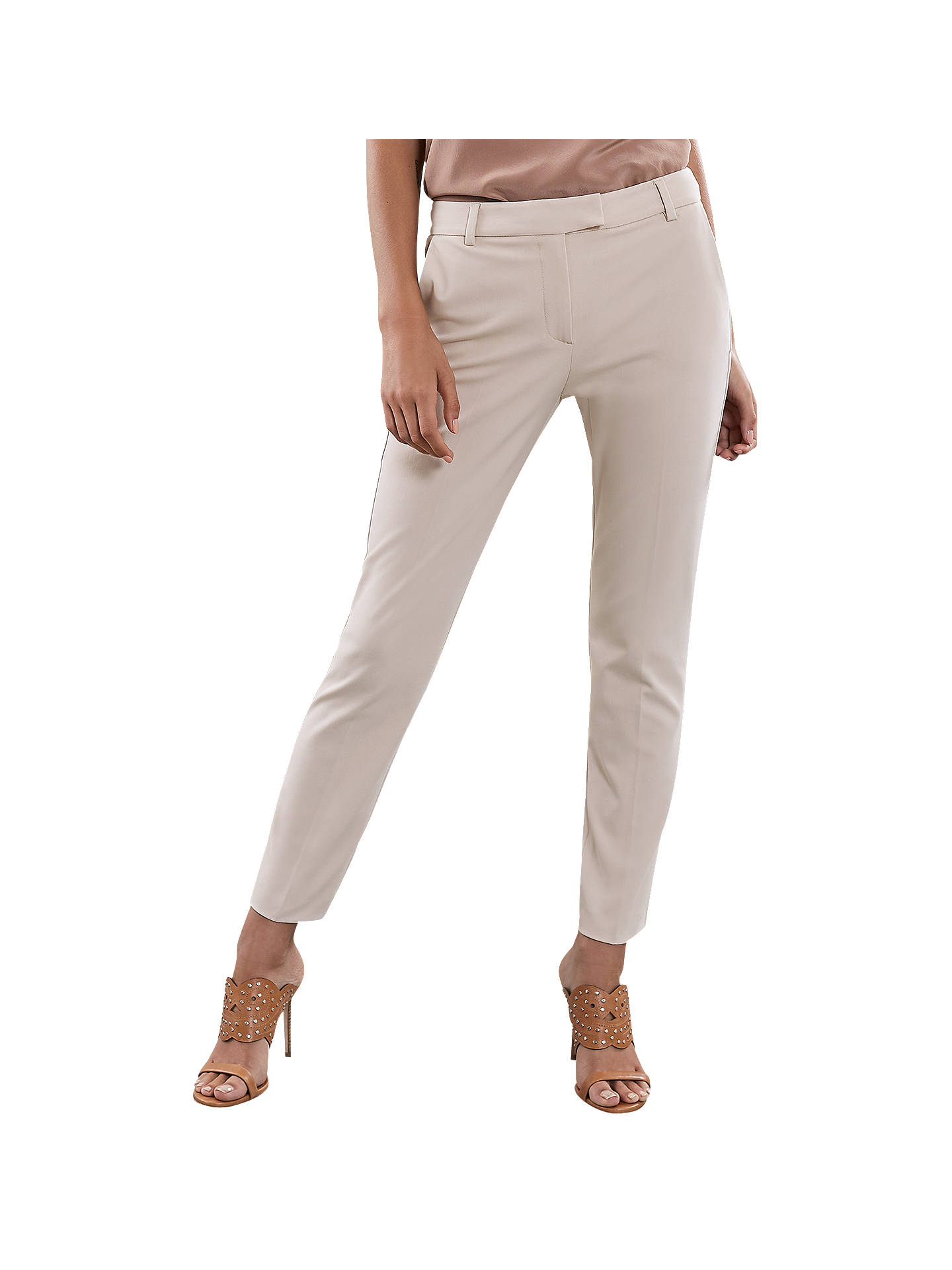 Buy Reiss Joanna Casual Trousers, Cream, 6 Online at johnlewis.com