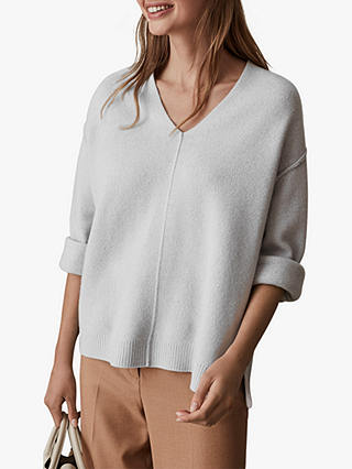 Buy Reiss Serafina Wool Cashmere Jumper, Pale Blue, XS Online at johnlewis.com