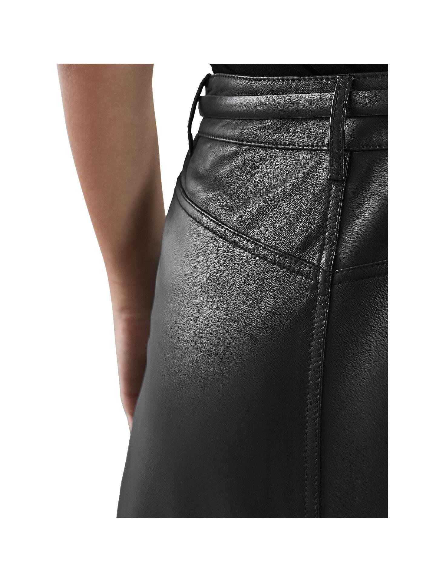 ac3b1ec895e5 Reiss Mimi Leather Mini Skirt at John Lewis   Partners