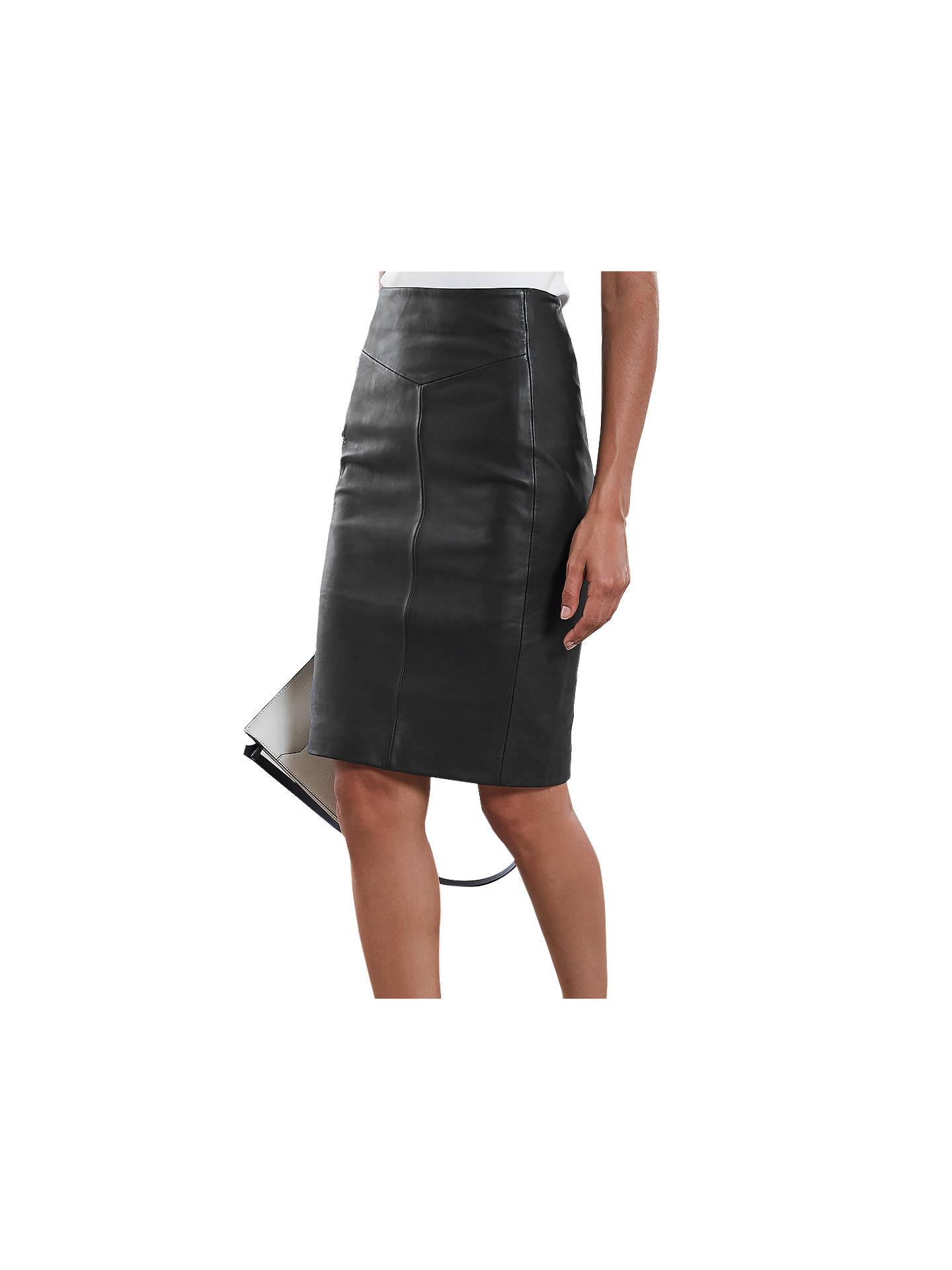 ec0f385f2b Reiss Megan Leather Skirt at John Lewis   Partners