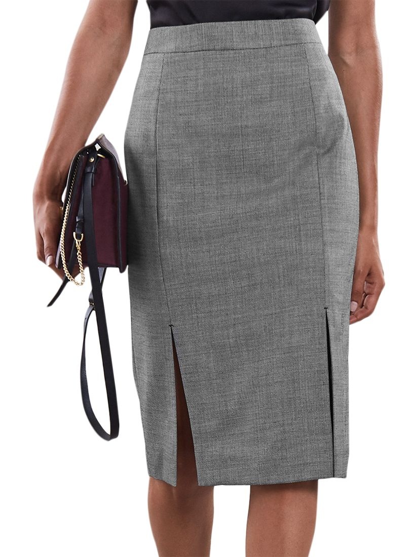 a2a511bfb2 Reiss Alber Pencil Skirt, Grey at John Lewis & Partners