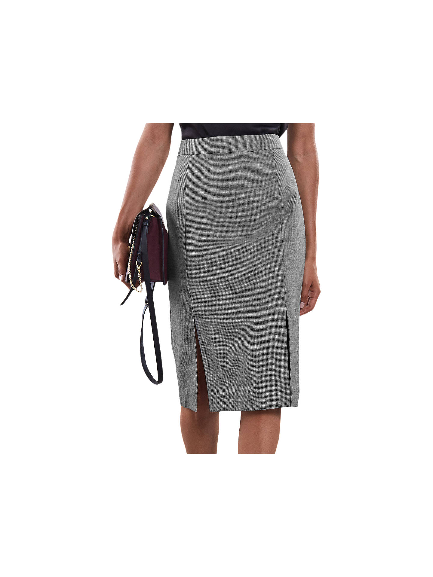 0a225668b1 Buy Reiss Alber Pencil Skirt, Grey, 6 Online at johnlewis.com ...