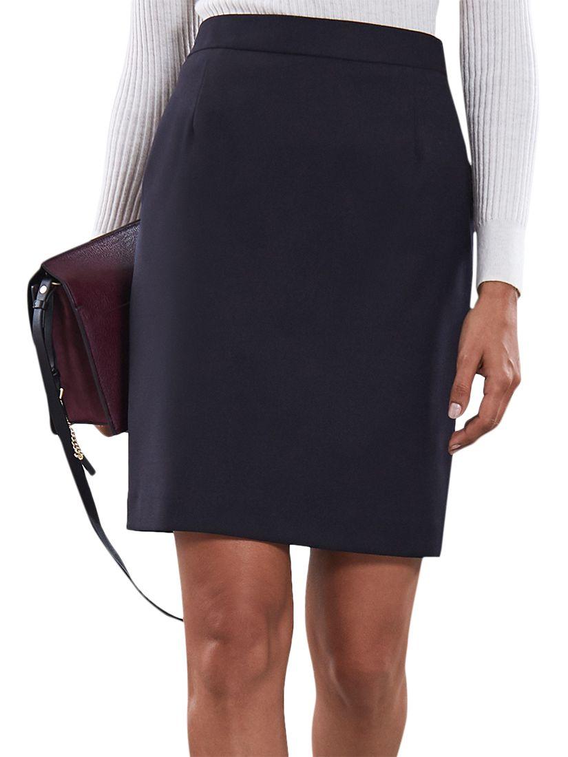 36bc41e33e Reiss Fenton Pencil Skirt, Navy at John Lewis & Partners