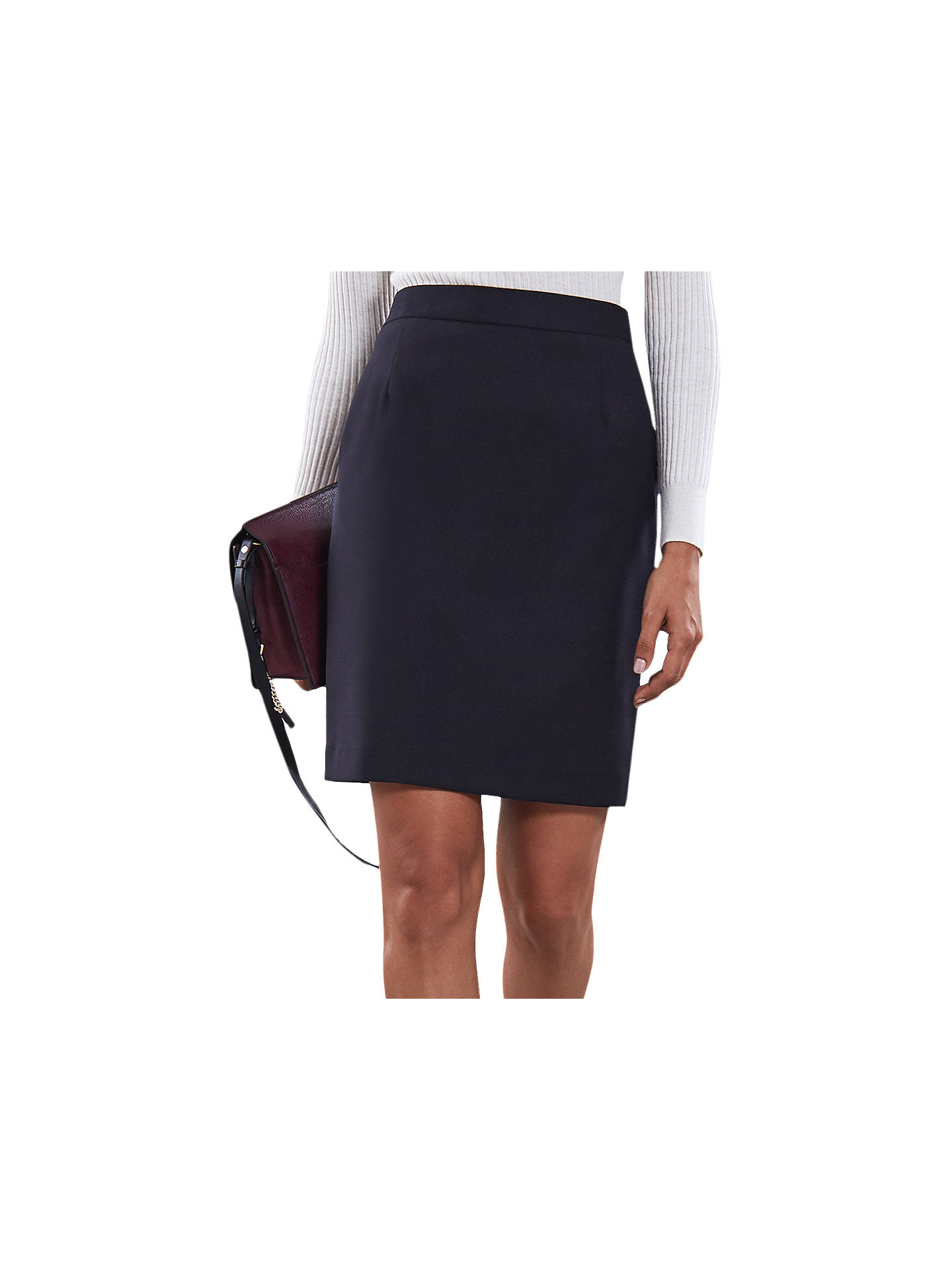 8ef0bbc419 Buy Reiss Fenton Pencil Skirt, Navy, 12 Online at johnlewis.com ...