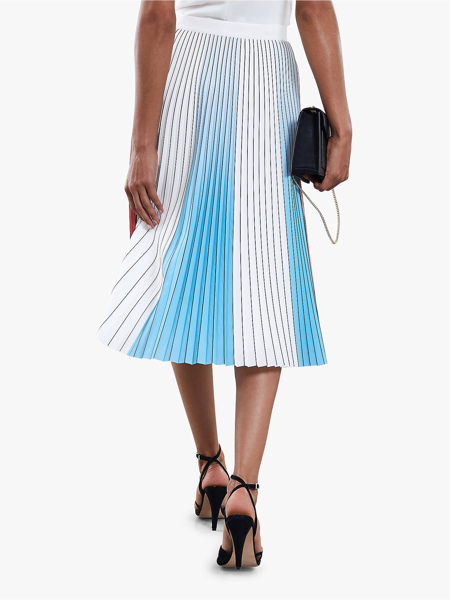 BuyReiss Nina Pastel Pleated Skirt, Multi, 6 Online at johnlewis.com