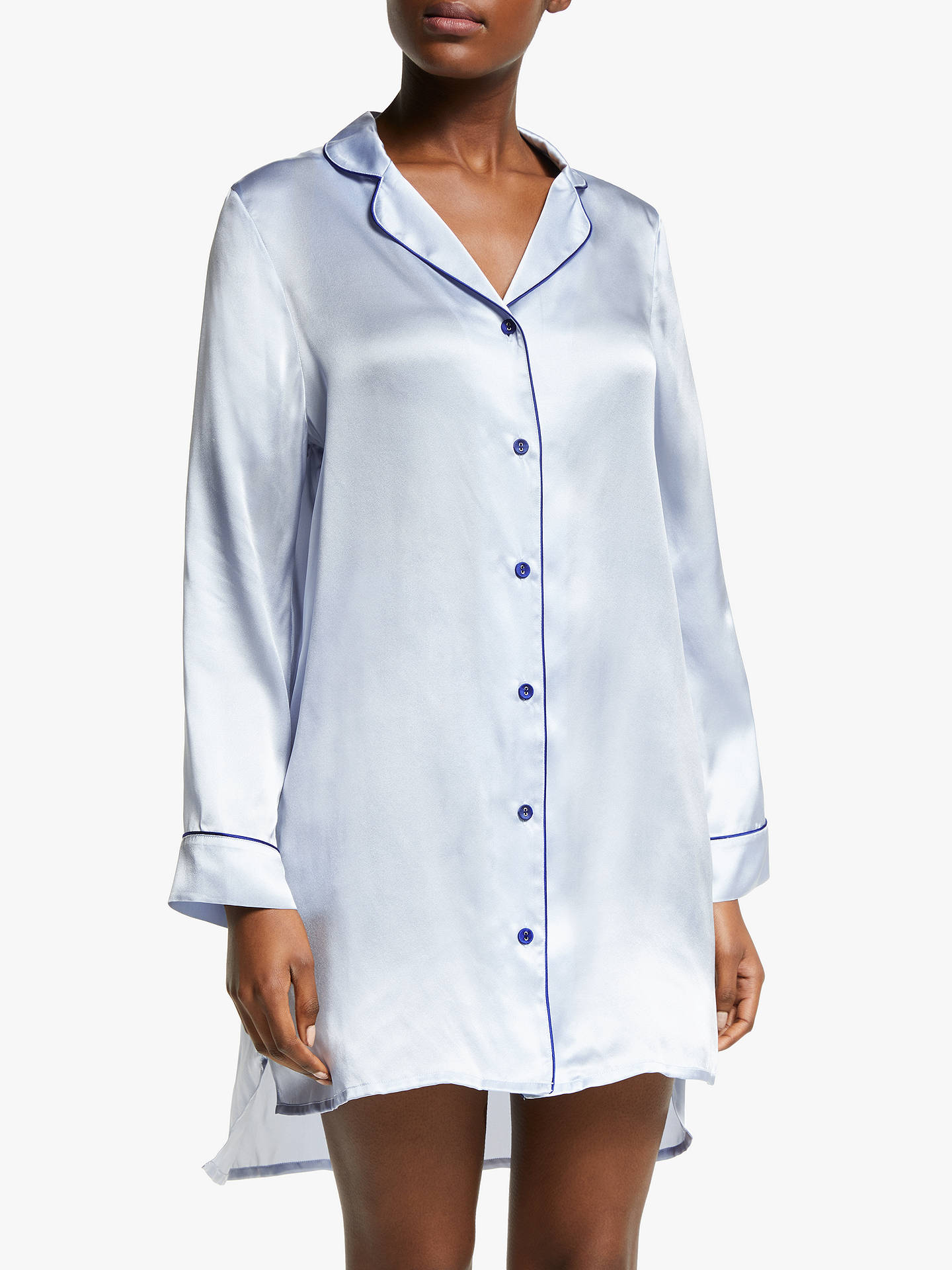 94ad36683c BuyJohn Lewis   Partners Silk Piped Nightshirt
