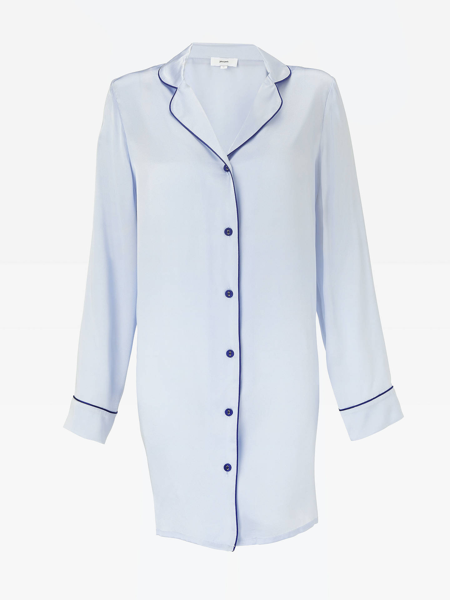 ... BuyJohn Lewis   Partners Silk Piped Nightshirt 0237307ee