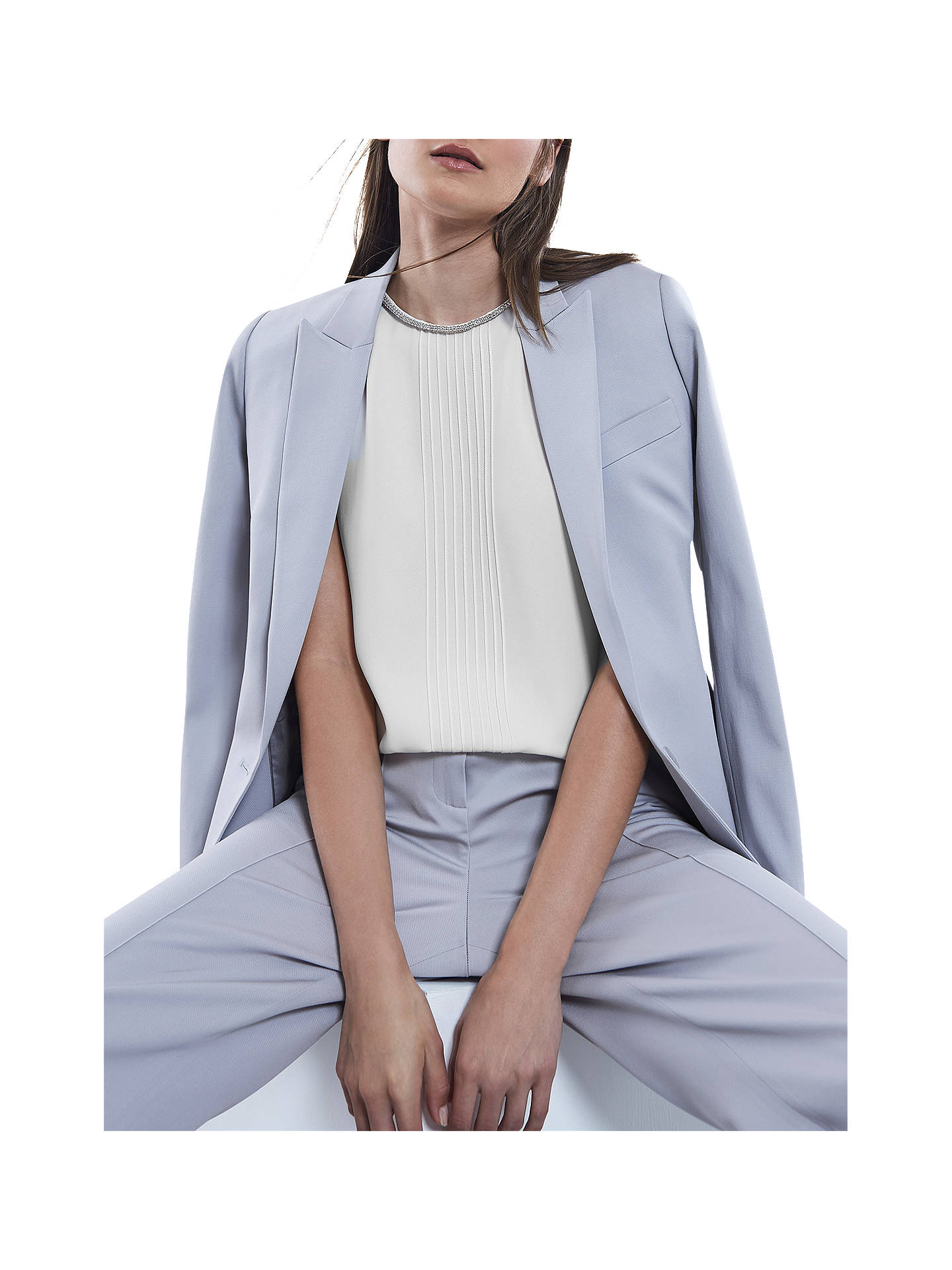Buy Reiss Milla Sleeveless Top, Off White, 6 Online at johnlewis.com