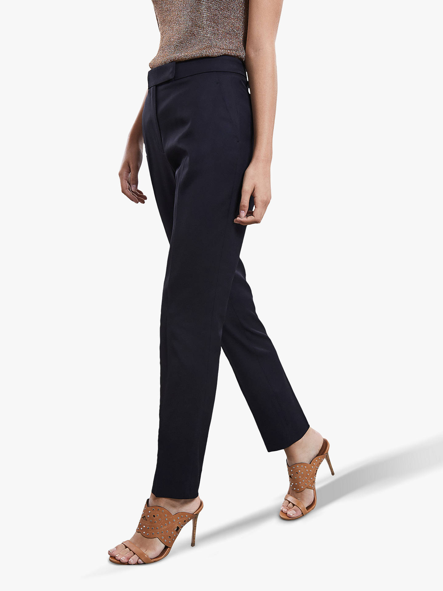 Buy Reiss Tally Trousers, Navy, 6 Online at johnlewis.com