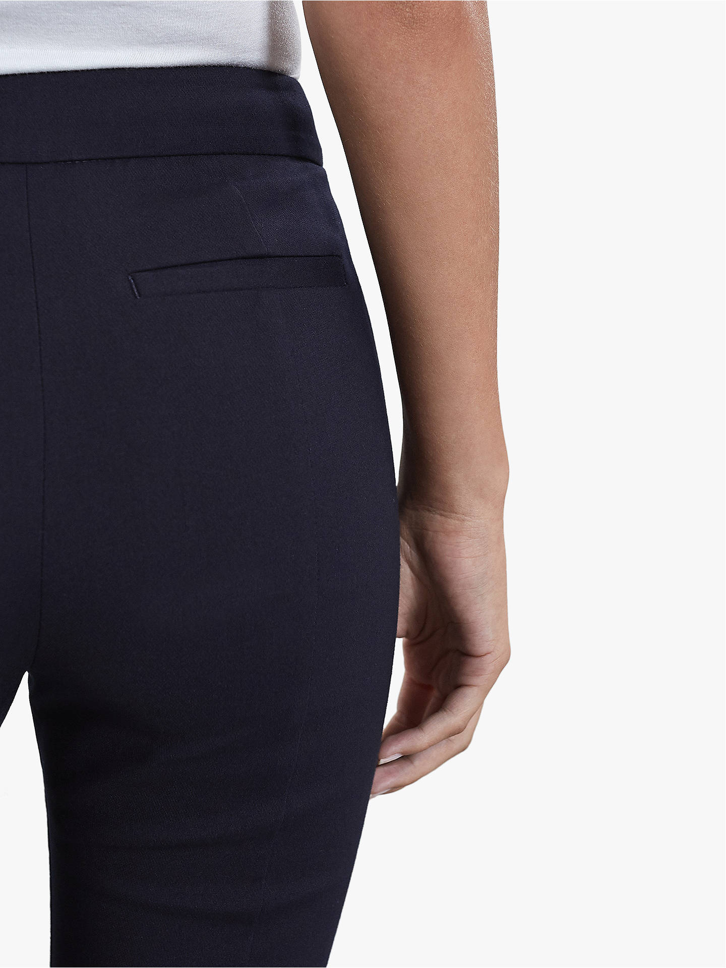 BuyReiss Arla Seam Detail Trousers, Navy, 6 Online at johnlewis.com