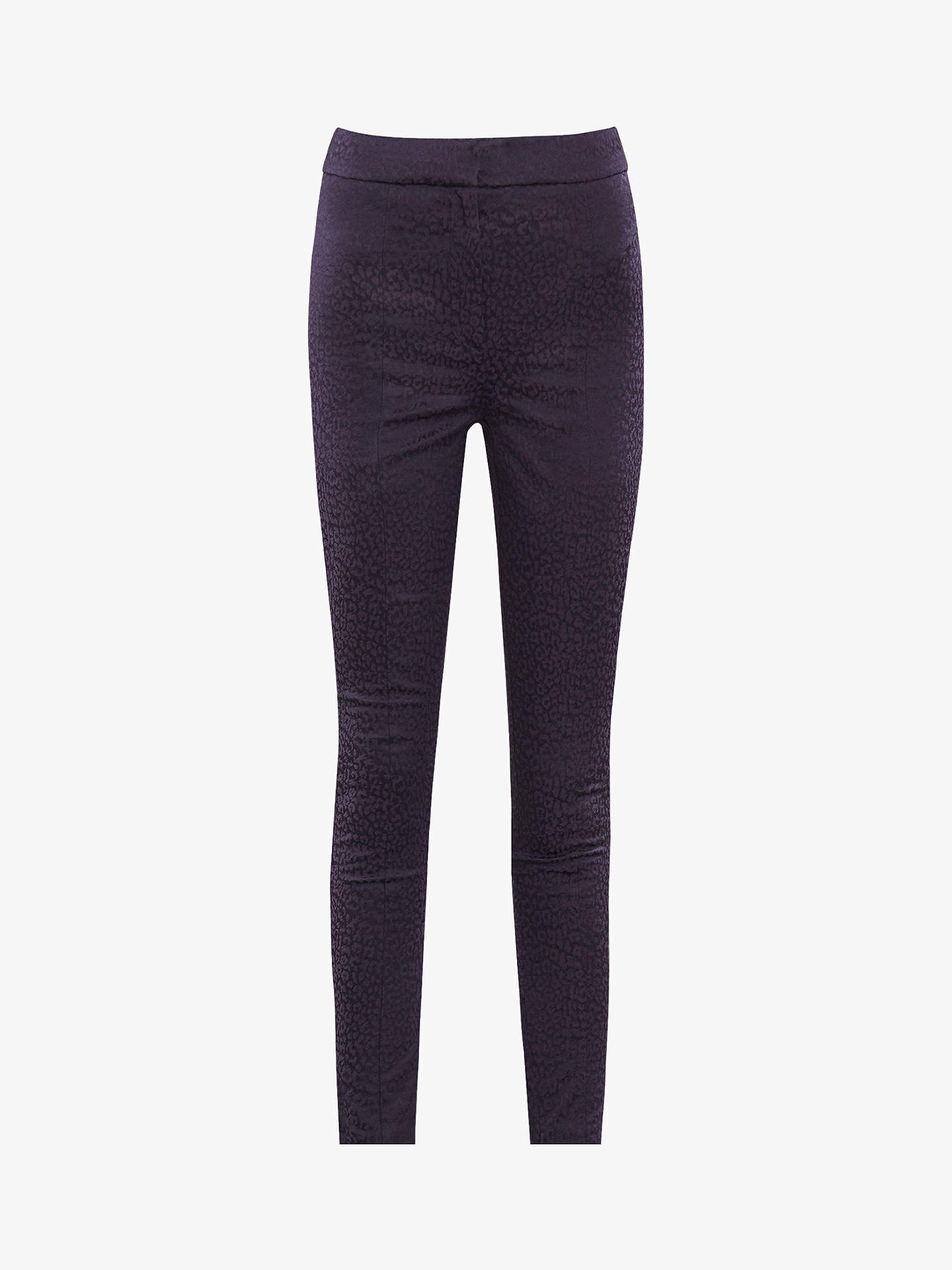 Buy Reiss Lio Leopard Pattern Jacquard Skinny Trousers, Navy, 6 Online at johnlewis.com