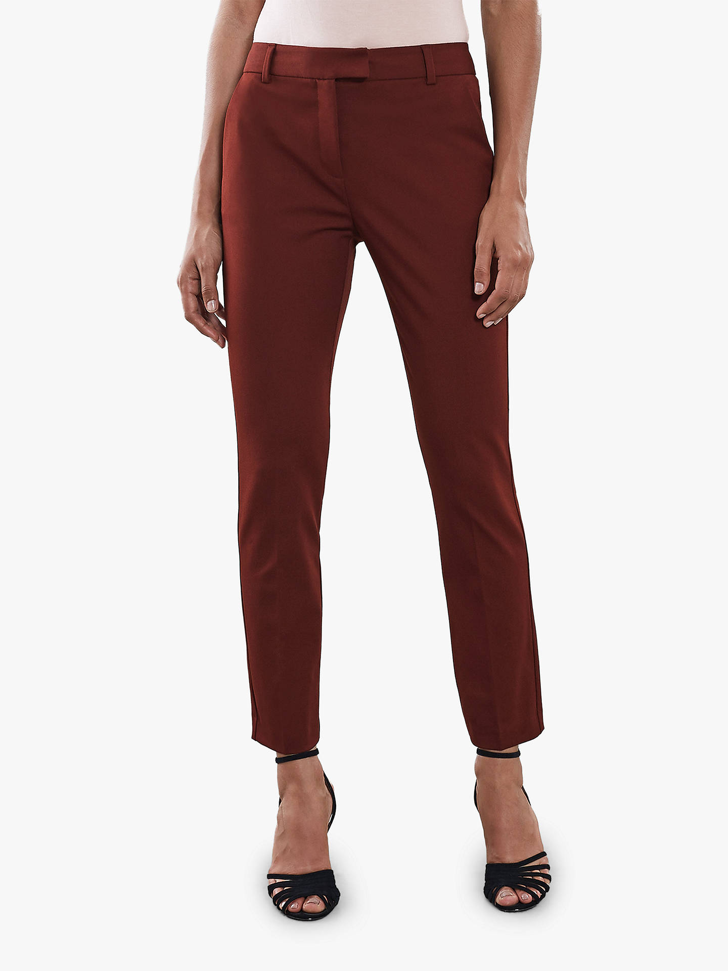 BuyReiss Joanne Tailored Trousers, Roasted Red, 6 Online at johnlewis.com
