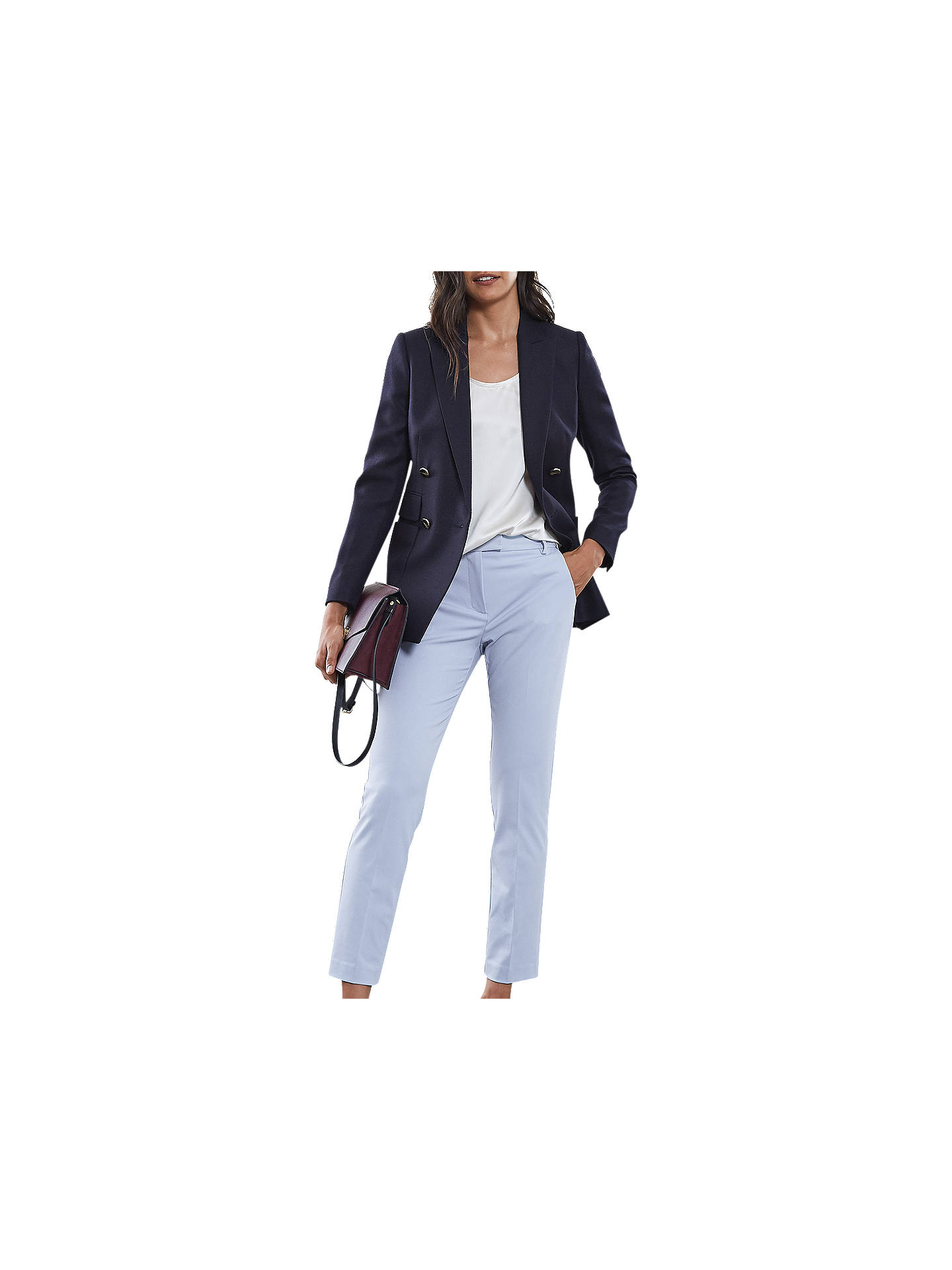 Buy Reiss Joanne Tailored Trousers, China Blue, 6 Online at johnlewis.com