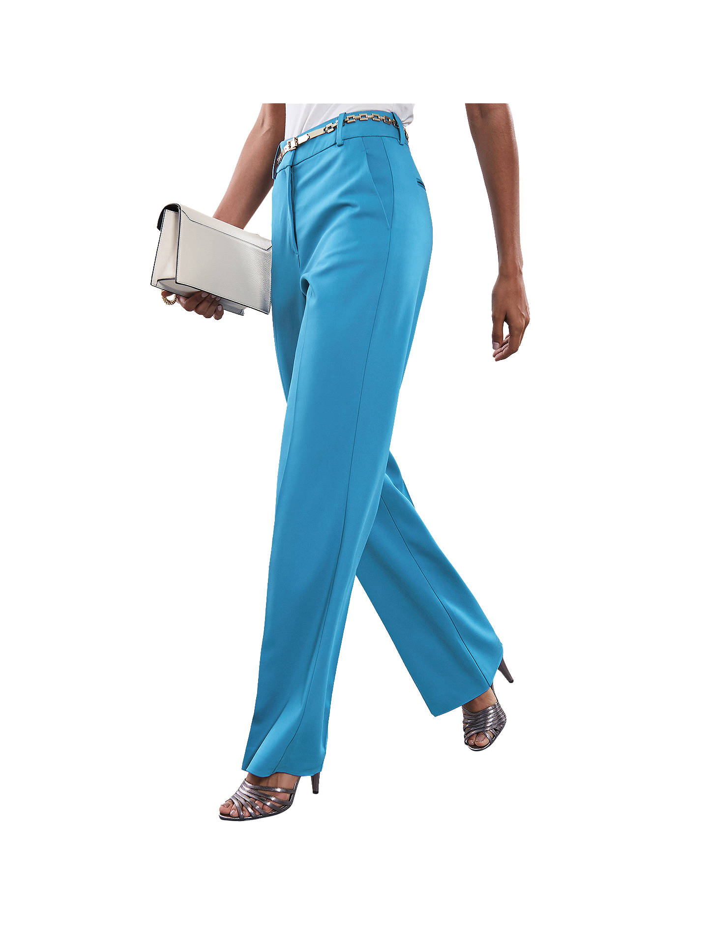 Buy Reiss Belle Bright Trousers, Blue, 10 Online at johnlewis.com