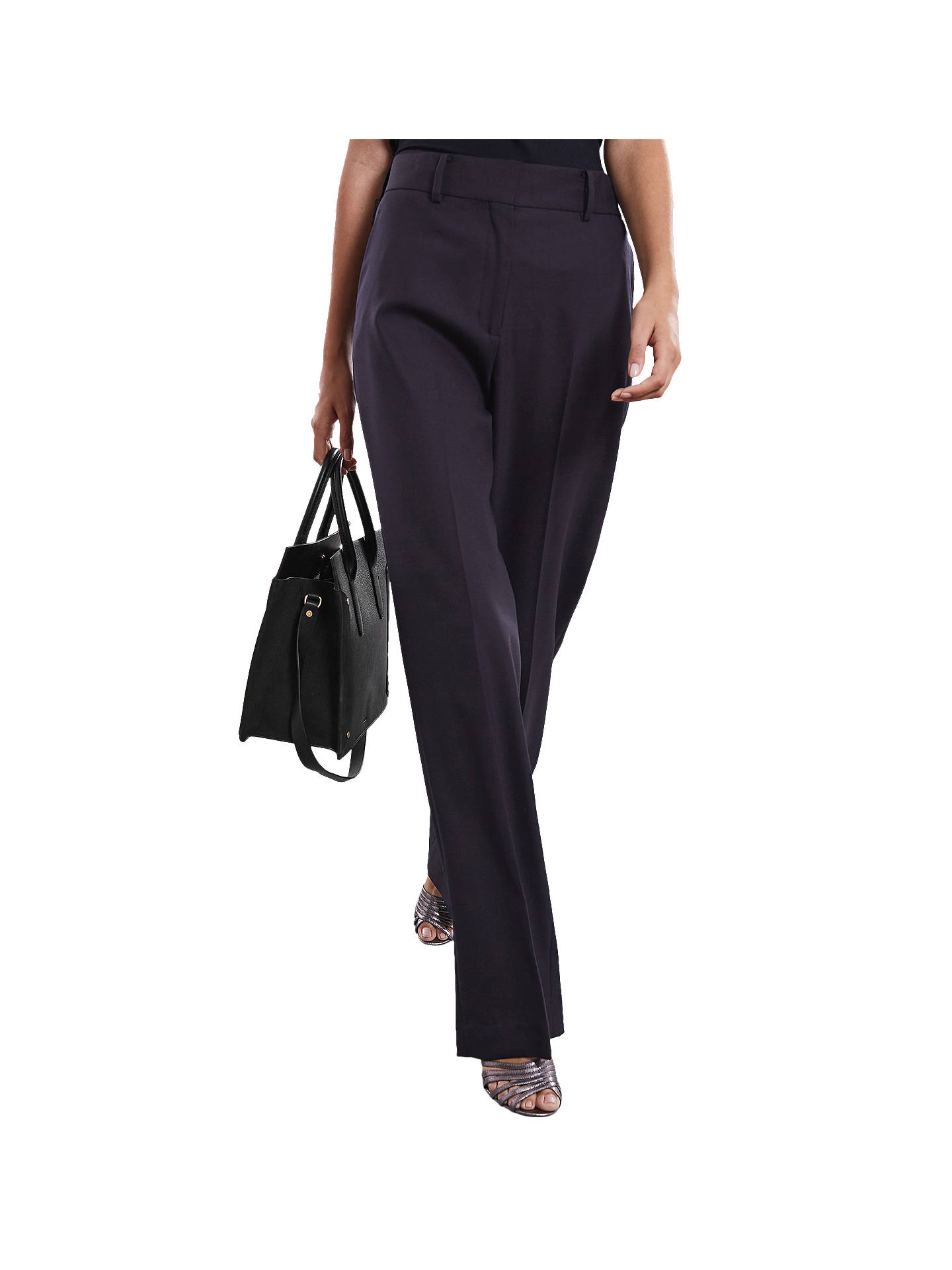 BuyReiss Mila Trousers, Navy, 6 Online at johnlewis.com