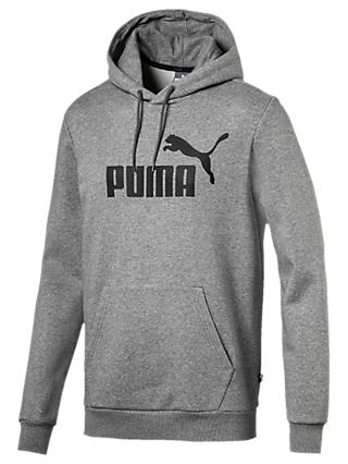 PUMA Essential Logo Training Hoodie, Medium Grey Heather
