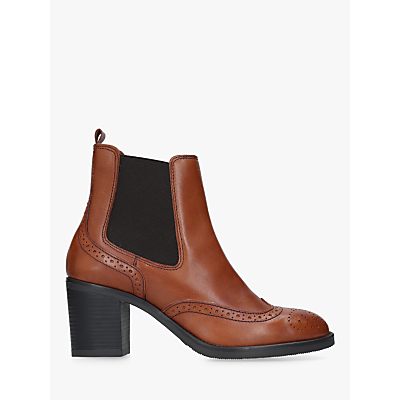 Carvela Comfort Raquel Block Heel Ankle Boots, Brown Leather
