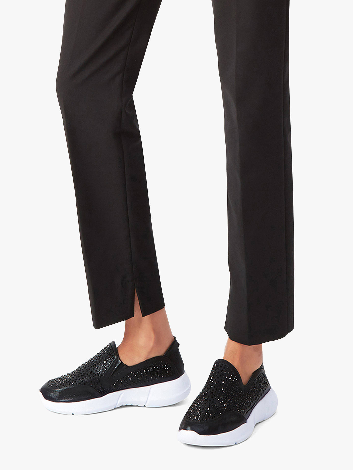 BuyCarvela Comfort Calya Embellished Slip On Trainers, Black, 4 Online at johnlewis.com