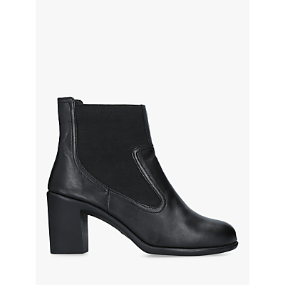 Carvela Comfort Roo Block Heel Ankle Boots, Black Leather