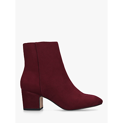 KG Kurt Geiger Taio Block Heel Ankle Boots, Dark Red