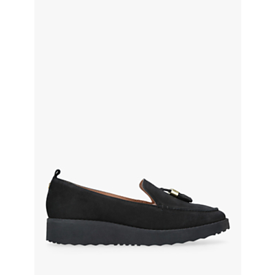 Carvela Kurt Geiger Mysetery Tassel Loafers, Black Leather