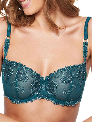 Buy Chantelle Champs Elysees Half Cup Bra, Green, 34B Online at johnlewis.com