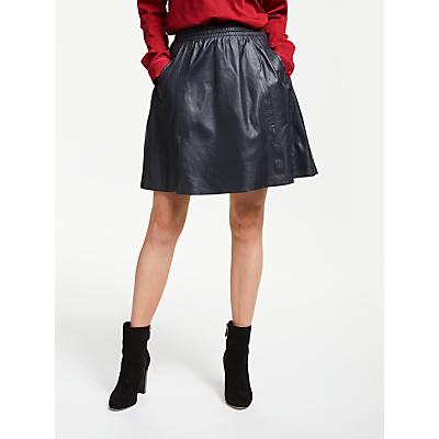 Numph Filcidad Leather Skater Skirt, Night Sky