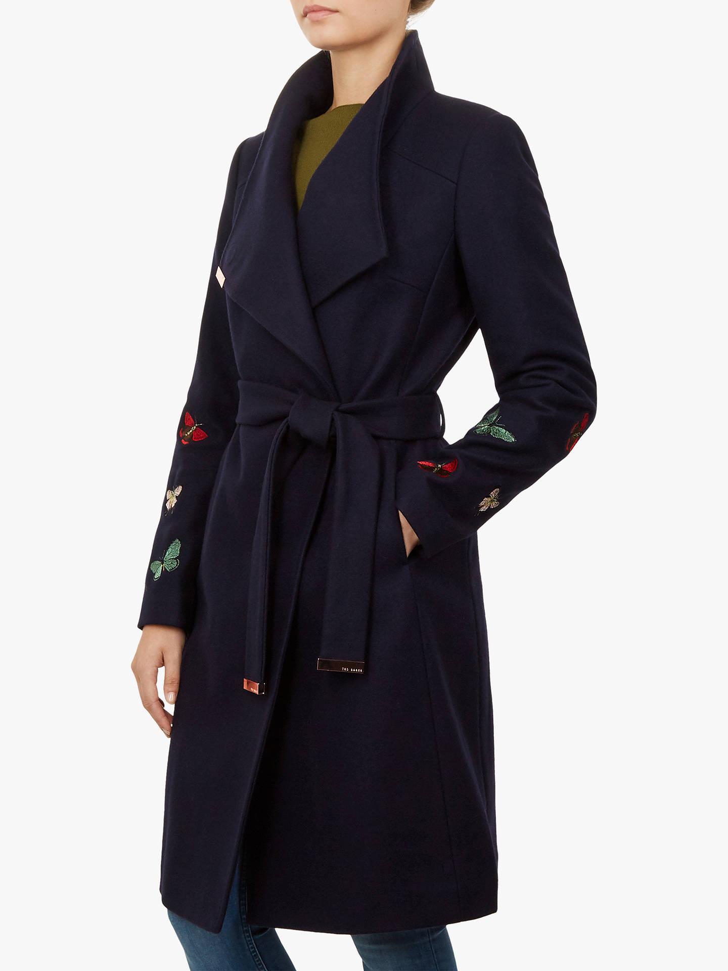 ed36e34d68df Buy Ted Baker Tyylaa Wool Blend Wrap Front Coat