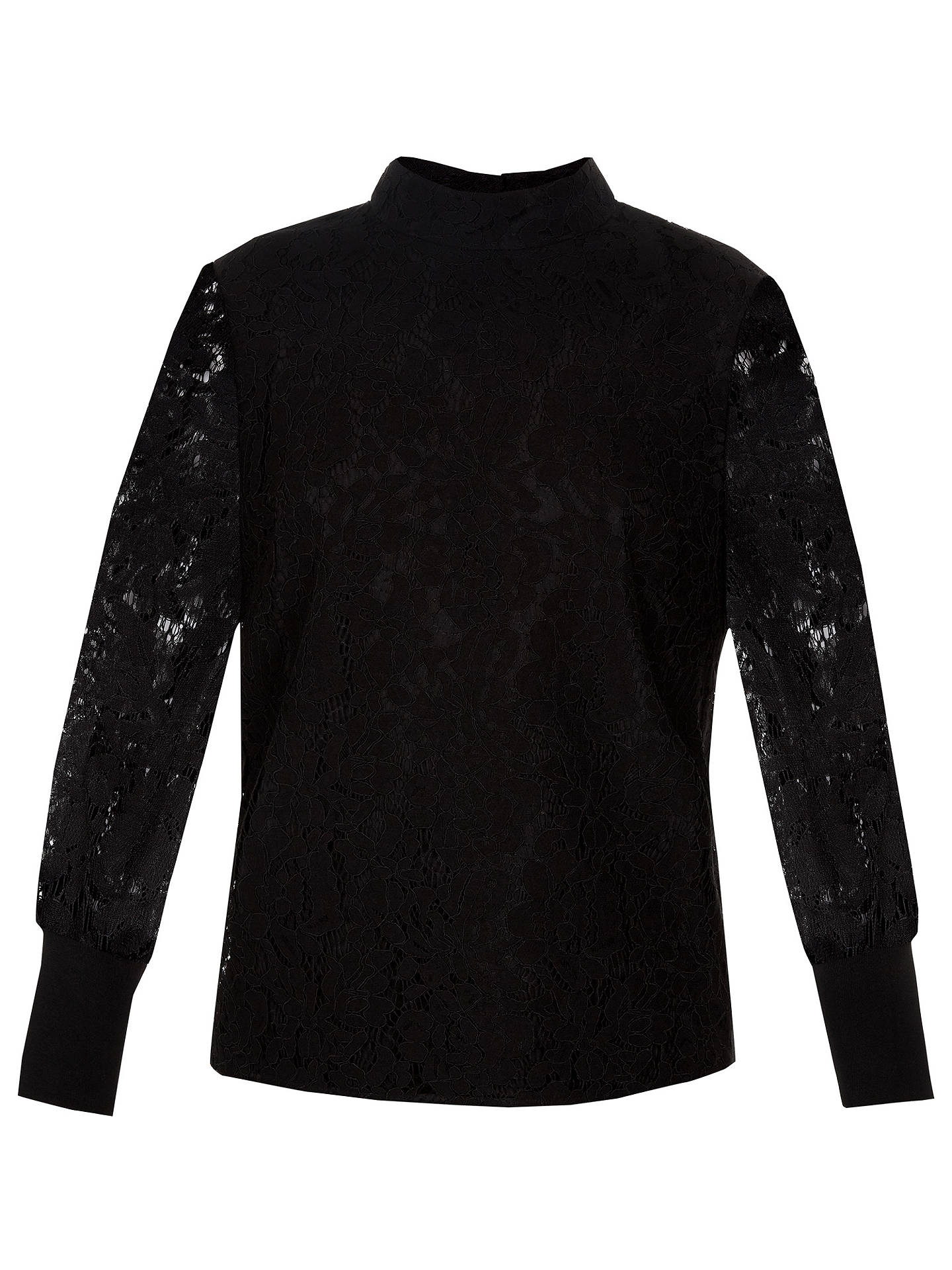 Buy Ted Baker Dilly Lace Top, Black, 16 Online at johnlewis.com