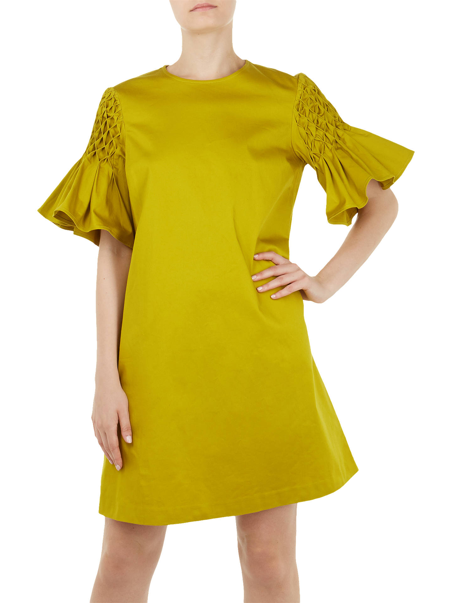 BuyTed Baker Faatima A-Line Dress, Green, 0 Online at johnlewis.com