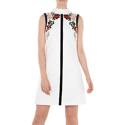 Ted Baker Aimmiid High Neck Tunic Dress, Ivory