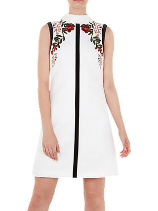 Buy Ted Baker Aimmiid High Neck Tunic Dress, Ivory, 6 Online at johnlewis.com