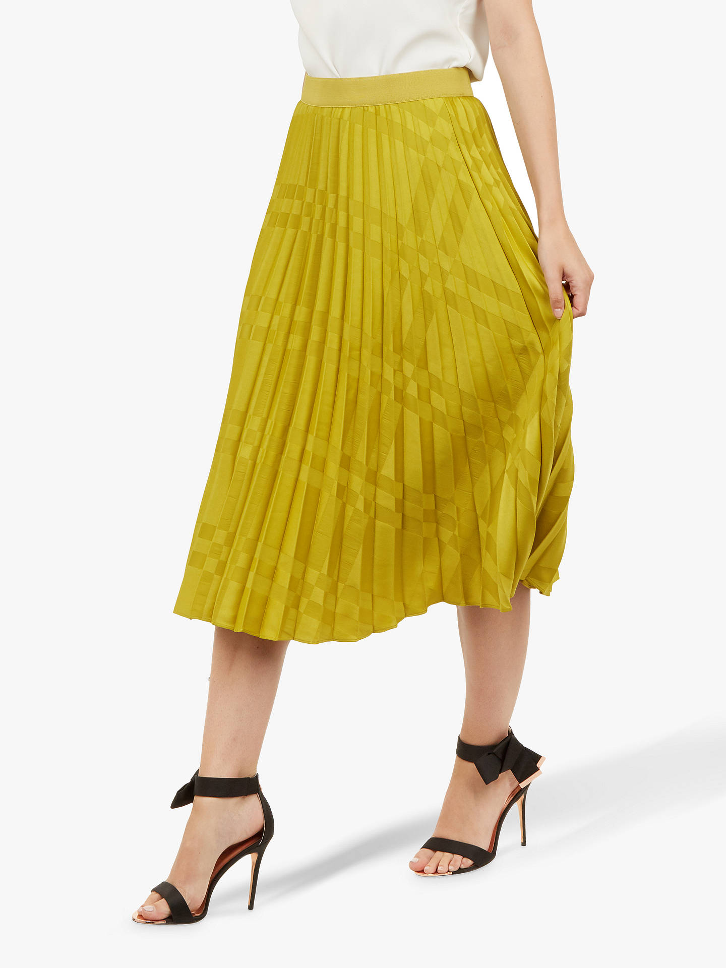 1215422c2 Buy Ted Baker Kkoreli Satin Pleat Skirt