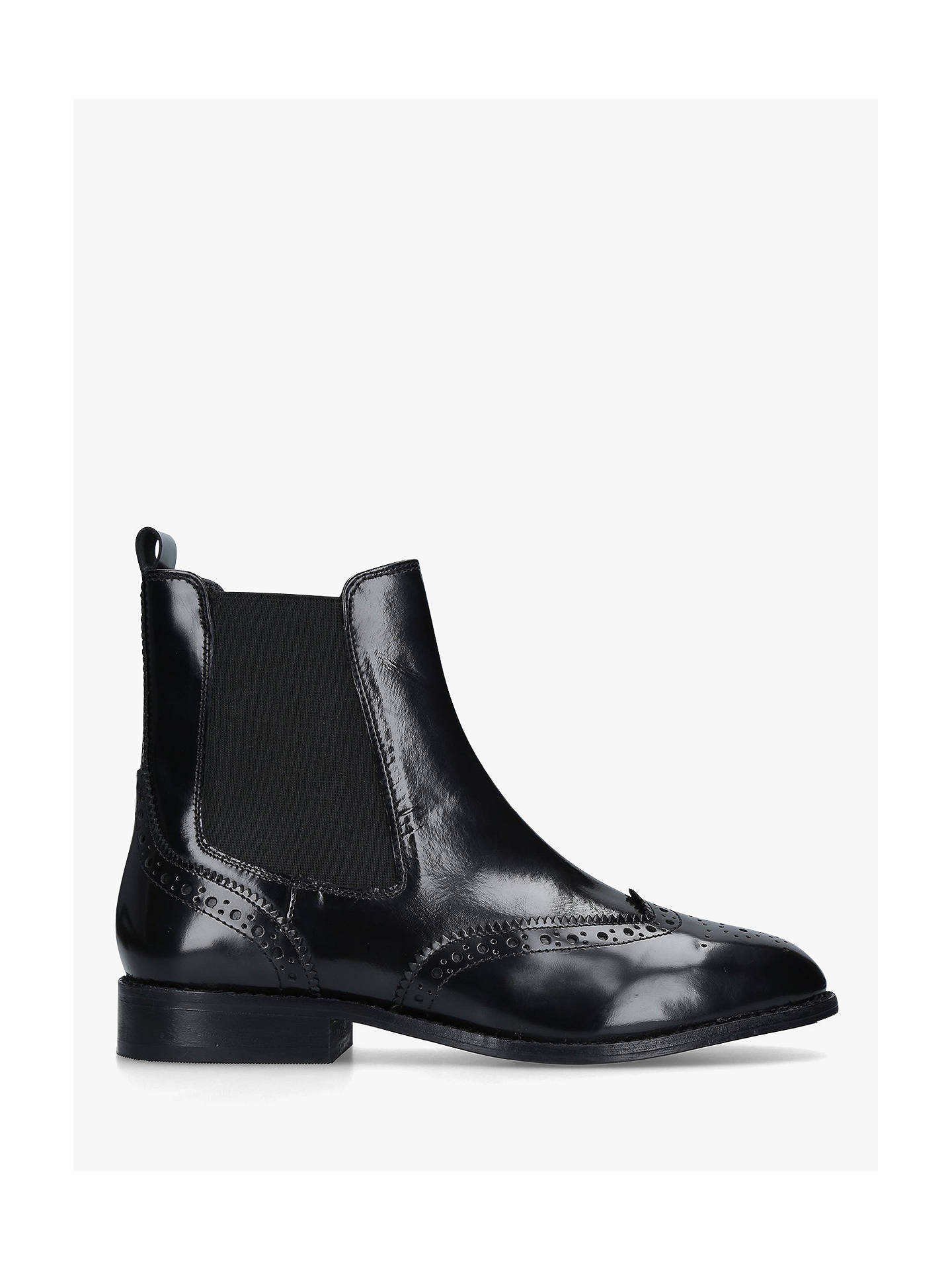 outlet sale new products 100% quality Carvela Comfort Rhea Block Heel Ankle Boots, Black Leather ...