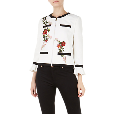 Ted Baker Aimmii Embroidered Jacket, Ivory