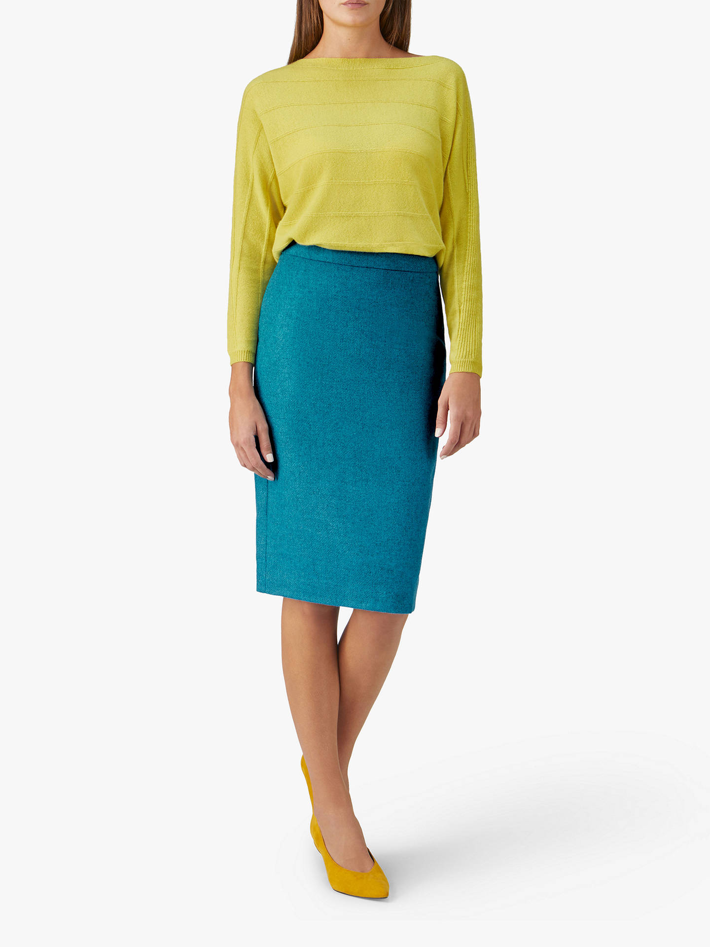 BuyPure Collection Wool Pencil Skirt, Bright Turquoise, 12 Online at johnlewis.com