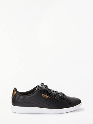 Buy PUMA Vikky Ribbon Women's Trainers, PUMA Black/Metallic Bronze, 4 Online at johnlewis.com