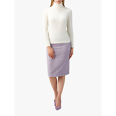 Pure Collection Wool Pencil Skirt, Lilac