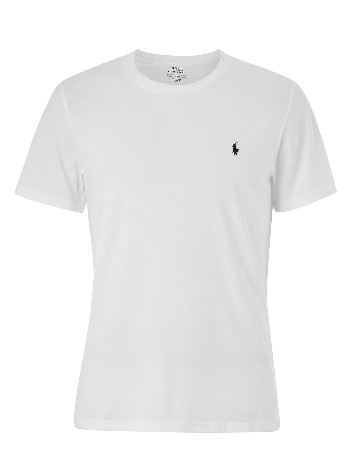 BuyPolo Ralph Lauren Liquid Cotton T-Shirt, White, M Online at johnlewis.com