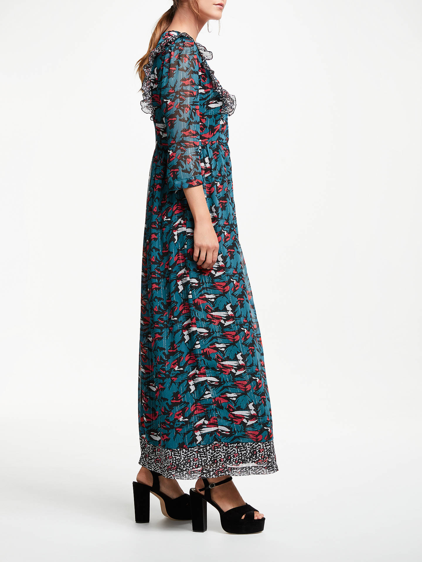 Buy SUNCOO Cornelie Printed Dress, Blue Canard, 8 Online at johnlewis.com