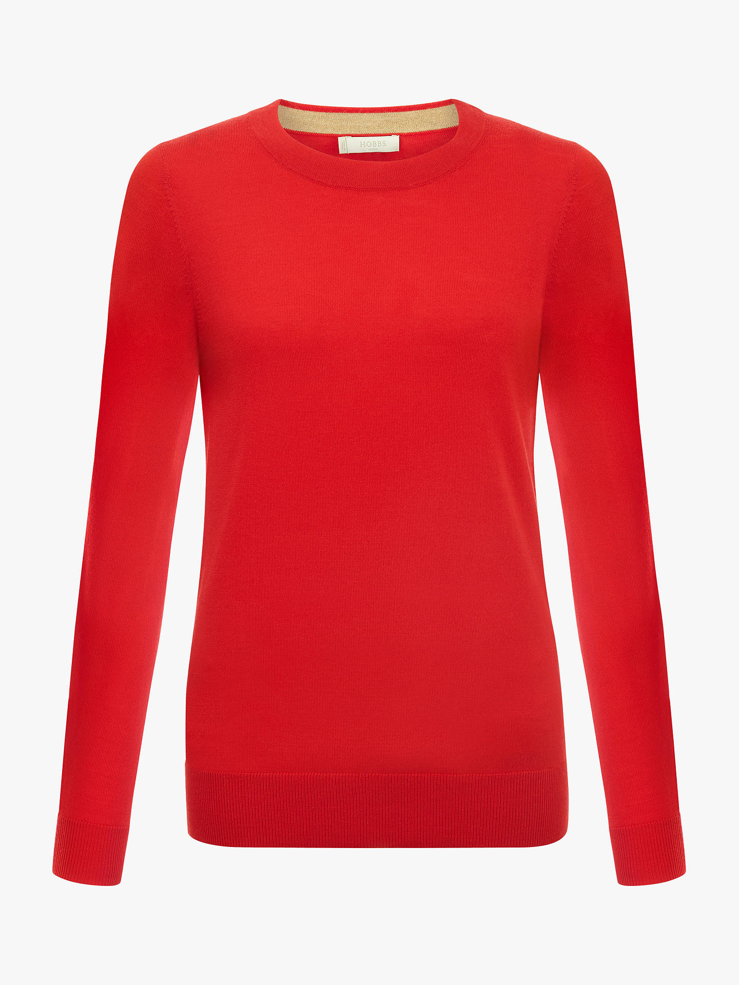 BuyHobbs Penny Knitted Sweater, Red, XL Online at johnlewis.com